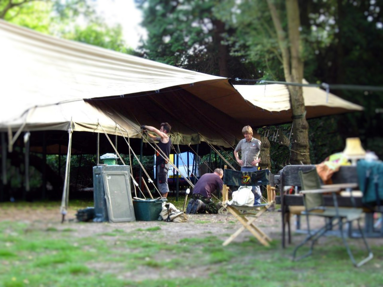 Creative Tent Rigging